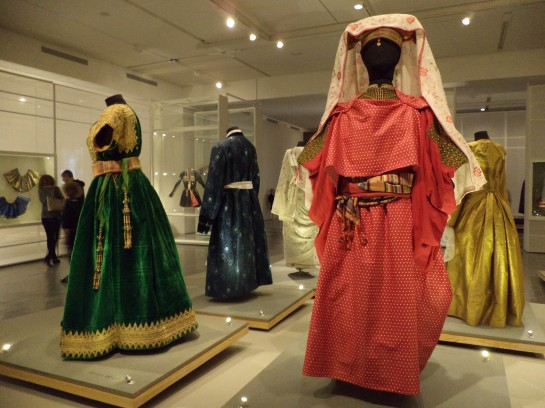 Examples of some outfits in the exhibition.